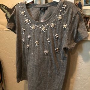 Topshop Tee with beads